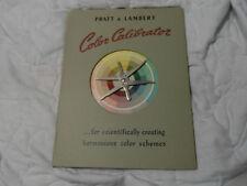 Vintage Pratt & Lambert Color Calibrator 1949