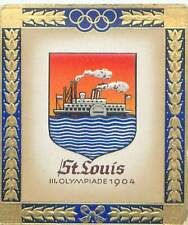 N°243 Saint St. Louis USA Olympic Games COAT OF ARMS CARD JEUX OLYMPIQUES 1936