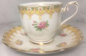 "Royal Albert ""Torquay "" teacup set bone china made in England"