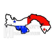 Panama Country Map Flag Decals & Stickers