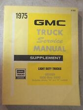 Vintage 1975 Gmc Truck Service Manual Supplement