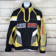 Castle Racing Motorsport Size Medium Motorcycle Yellow Vented Jacked