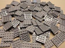 x100 New Lego Gray Plates 4x4 Brick Building Baseplates Light Bluish Gray