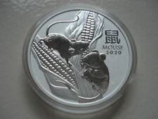 1 Dollar Australien 2020, Lunar III Maus, 1 Oz Silber,