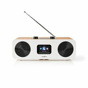 Nedis Internet Radio Table Design Bluetooth/Wi-Fi DAB+/FM/Internet 34W & Remote