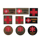 Outdoor Tactical Embroidered First Aid Red Cross Service Dog Patches Multi Color