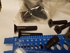 12mm - 1.75 x 120mm  Class 12.9 Steel Black Oxide Finish Flat Socket Head 15 Pcs