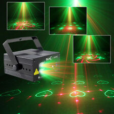 MINI RG Laser Light Blue LED for Stage Disco Lighting SUNY 3 Lens 40 Patterns