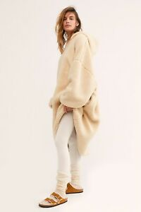 NEW FREE PEOPLE INTIMATELY Sz M L RIBBED POCKET HIGH RISE KNIT LEGGING IN IVORY