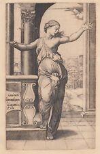 Marcantonio Raimondi, Lucrezia, 1520, XIX secolo acquaforte