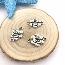6pcs Jewellery Making Flower Connector Charms Pendant Tibetan Silver 20x14mm