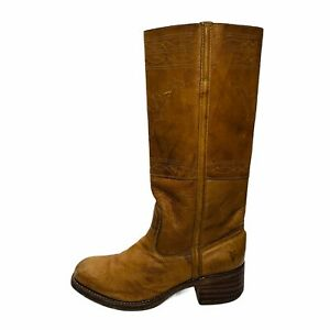 Frye Women's Campus Stitching Horse High Leather Boots Brown Size 10M