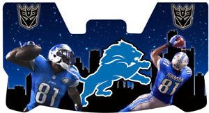 Custom Lions Calvin Johnson Football Helmet Visor, W/ Unbranded Clips