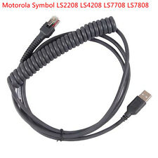 More details for motorola symbol ls2208 ls4208 ds9208 barcode scanner usb to rj45 coiled cable
