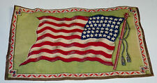 Antique Vtg 48 Star American Flag Cigarette Tobacco Pack Felt Flag