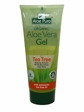 ALOE PURA ORGANIC ALOE VERA GEL  WITH TEA TREE 200ml - CERTIFIED PRODUCT
