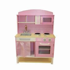 WOODEN TOY KITCHEN W/MICROWAVE
