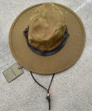 RARE NEW WITH TAG Filson Cloth Cotton Canvas Tin Bush Hat Men's Medium Dark Tan