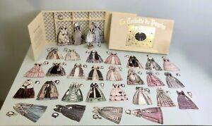 La Toilette de Psyche 19th C French Paper Doll Set 30 Antique dresses & Hats