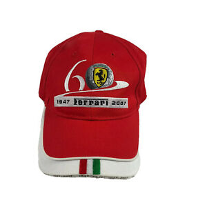 Ferrari Official 1947 - 2006 60th Anniversary Golf Tournament Hat Red Strapback