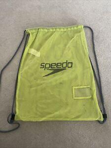 Speedo Mesh Swimming Bag Neon Yellow
