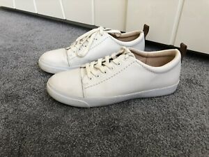 Womens White Clarks Trainers Size 6.5