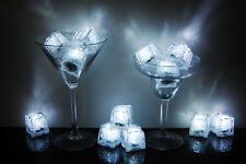 Set of 12 Litecubes Brand 3 Mode WHITE Light up LED Ice Cubes