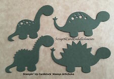 • • • Die Cuts ~ DINOSAURS x4 sets Green ~ Stampin Up C/S ~ Scrapbooking