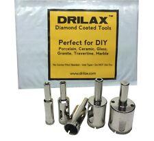5 Pcs Diamond Drill Bit Set 3/8 1/2 5/8 3/4 1 inch Glass Granite Tiles Holesaw