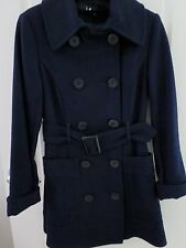 Wool Double Breasted Overcoat Size 8