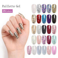 LILYCUTE 5ml Glitter Sequins UV Gel Polish Fast Dry Nail Art Varnish
