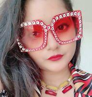 Designer Upscale Bling Rhinestone Large Oversized XXL Womens Sunglasses