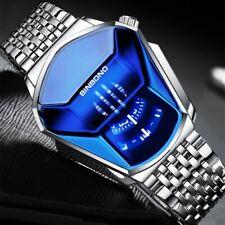 Creative Diamond Concept Design Men's Quartz Wrist Watch Steel Bracelet Band