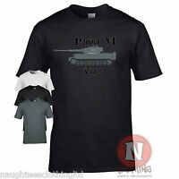 Panzer 6 Tiger tank WW2 German military armour T-shirt World of war Tanks