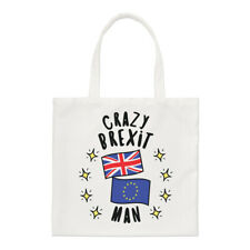Crazy Brexit Man Regular Tote Bag Funny Political Britain Europe EU Shopper