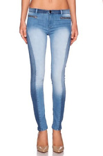 BLACK ORCHID Mid Rise Amber Zipper Skinny Jeans Faded Light Blue 27 $150 #31
