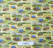 Patchwork Quilting Fabric FARM TRACTORS ASSORT Sewing Material Cotton FQ 50X55cm