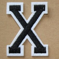 Letter X Patch Alphabet  Iron Sew On Applique Badge Motif