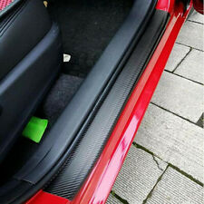 4X Car Stickers Carbon Fiber Door Sill Protector Scuff Plate Trim Accessories