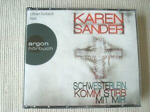 Neuwertig 6 CDs Hörbuch Krimi Karen Sander Schwesterlein komm stirb mit mir