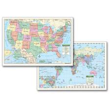 United States & World Laminated Primary Map Set