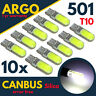 10 x T10 501 W5W CAR SIDE LIGHT BULBS ERROR FREE CANBUS WEDGE LED XENON 12V HID