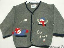 LA MODE des MONTAGNES fleece cardigan jacket 2 2t 3T Jeux d'hiver EUC winter