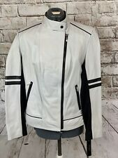 LAUNDRY by Shelli Segal Oyster color leather Jacket super soft  NWT Lg