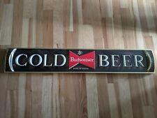 """Rare 48"""" Budweiser Bowtie Cold Beer Sign Anheuser Busch Bar Advertisement"""