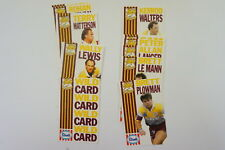 1990 Rugby League Streets Brisbane Broncos set of 22 cards includes Wild Card