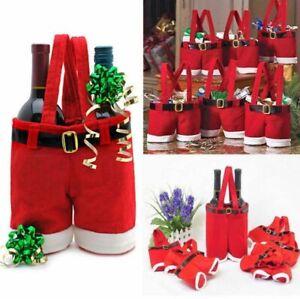 Candy Bags Santa Pants Christmas Wine Stocking Bottle Gift Xmas Decoration Kits