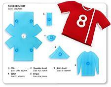 JEM - 3D Soccer Football Shirt - Set of 5 - Sugarcraft Cutter Cake Decorating