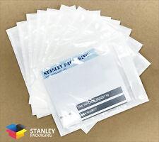 50 PCS Plain Invoice Envelope Document Enclosed Sticker Pouch 115x150mm 115mm