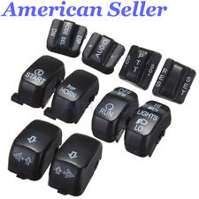 USA Black Hand Control Switch Housing Caps F Harley  Electra Street Glide 96-13
